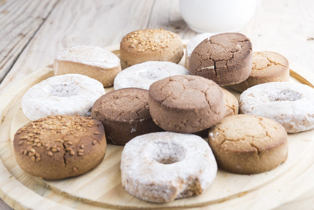 Plate of Assorted Spanish Polvorones Cookies
