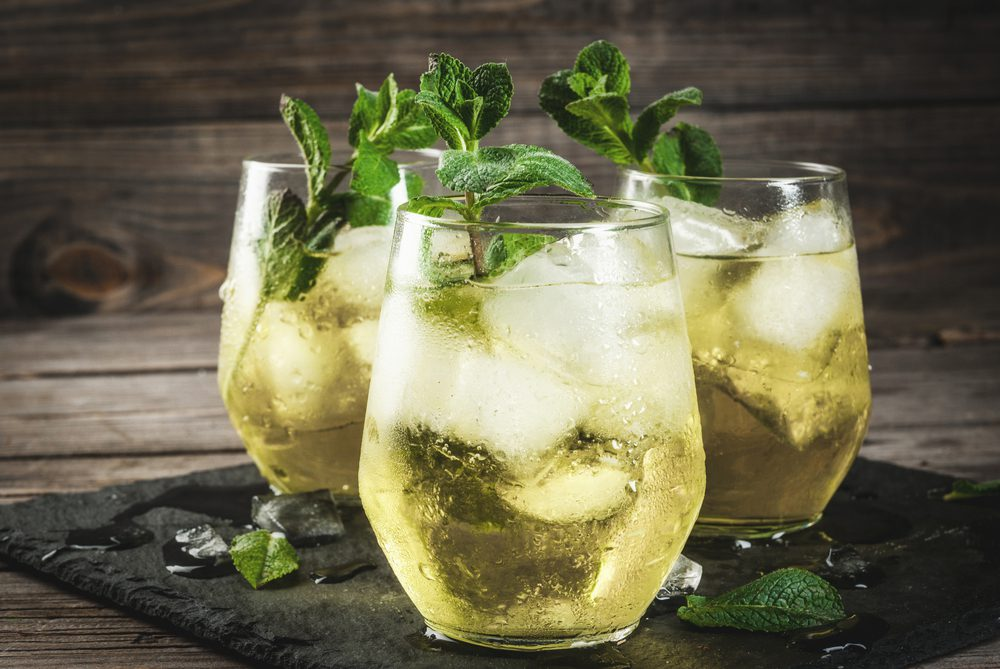 Three Rebujito drinks from Spain garnished