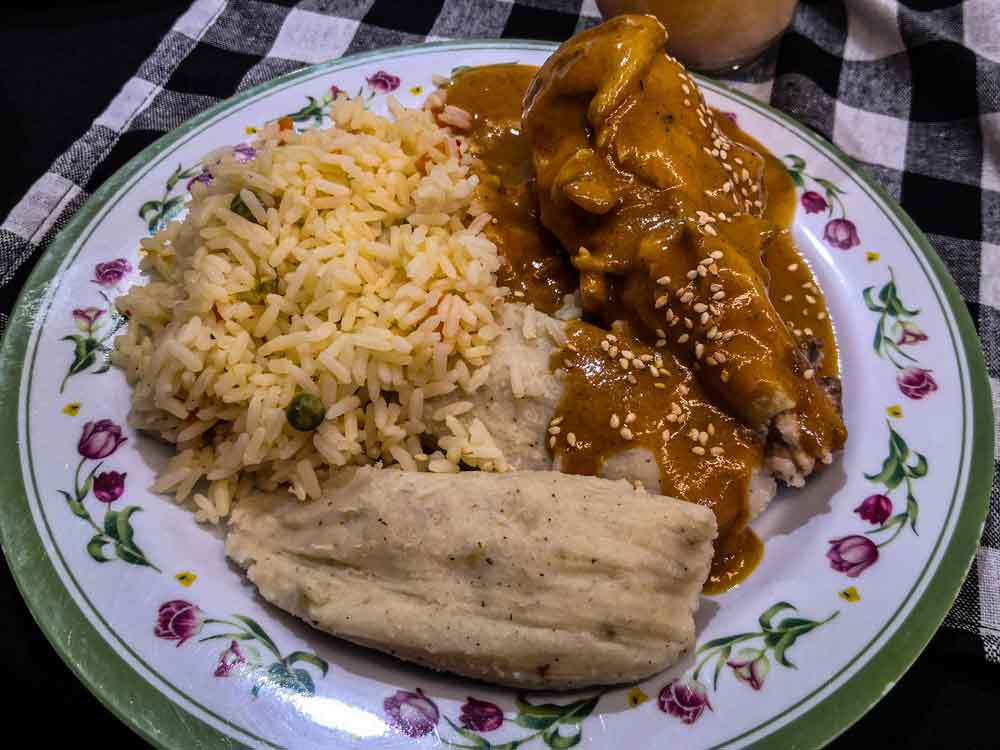 Guatemala's Pepian National Dish served on plate