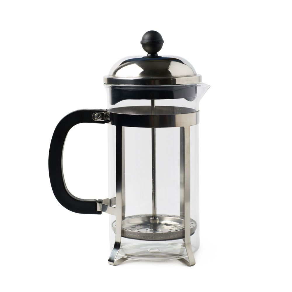 French Press On white background